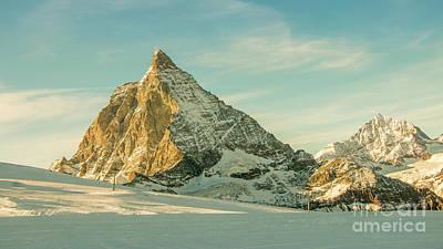 The Sun Sets Over The Matterhorn Poster