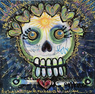 Poster featuring the painting The Sun Still Shines For Our Hearts by Laurie Maves ART