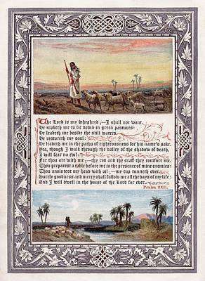 The Sunday At Home 1880 - Psalm 23 Poster