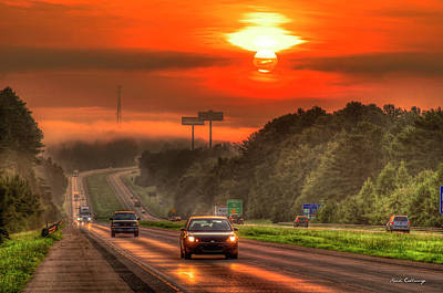 The Sunrise Commute Georgia Interstate 20 Art Poster