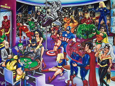 The Superhero Hangover Poster by Charlotte Oedekoven