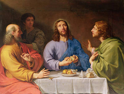 The Supper At Emmaus Poster by Philippe de Champaigne
