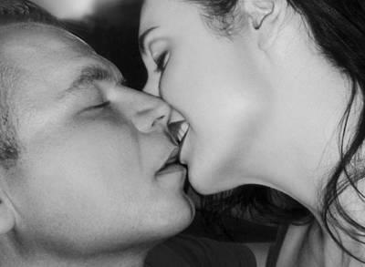 The Surreal Kiss Poster by Jaeda DeWalt