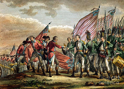 The Surrender Of General John Burgoyne At The Battle Of Saratoga Poster by Godefroy