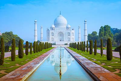 The Taj Mahal Of India Poster