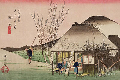 The Teahouse At Mariko Poster by Hiroshige
