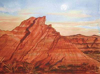 Poster featuring the painting The Teepees by Ellen Levinson