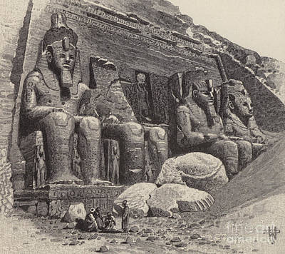 The Temple Of Abu Simbel Poster