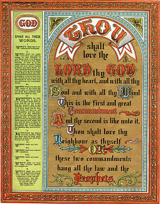 The Ten Commandments Poster by Pg Reproductions