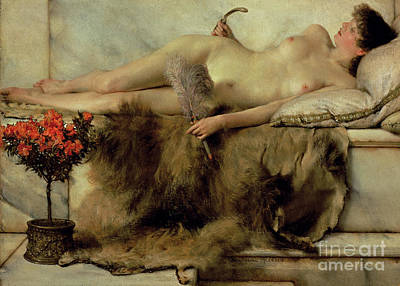 The Tepidarium Poster by Sir Lawrence Alma-Tadema