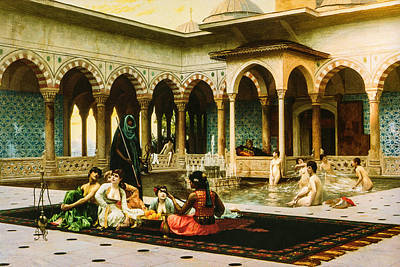 The Terrace Of The Harem Poster by Jean Leon Gerome