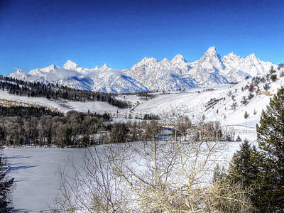 The Tetons From Gros Ventre Valley Poster