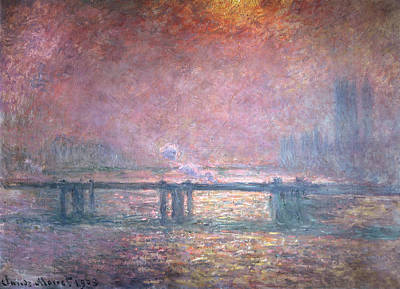 The Thames At Charing Cross Poster by Claude Monet