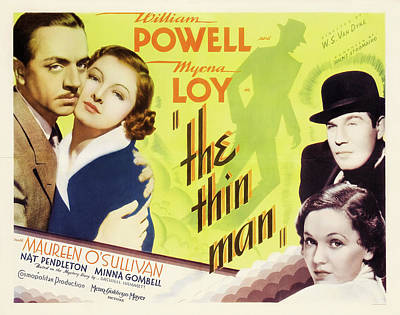 The Thin Man 1934 Poster by M G M