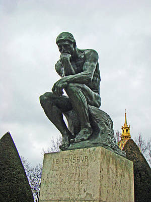 The Thinker By Rodin Poster by Al Bourassa