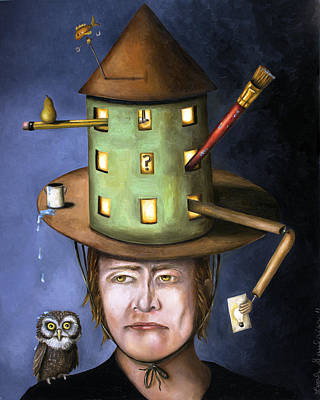 The Thinking Cap Poster by Leah Saulnier The Painting Maniac