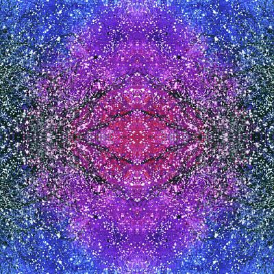 The Third Eye Activation #1503 Poster by Rainbow Artist Orlando L aka Kevin Orlando Lau