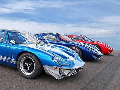 The Three Amigos - Ford Gt 40 Poster