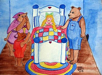 The Three Bears And Goldilocks Poster by Julie Brugh Riffey