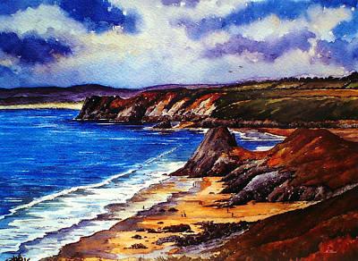 The Three Cliffs Bay Poster