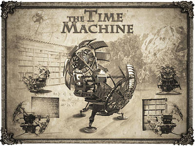The Time Machine Poster by Robert Slack