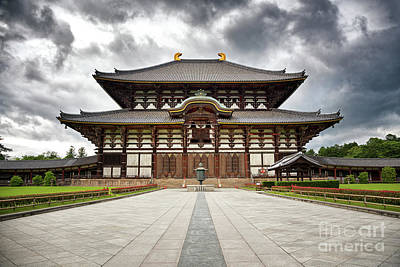 The Todai-ji Temple Of Nara Poster by Jane Rix