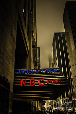 The Tonight Show Nbc Studios Rockefeller Center Poster by Edward Fielding