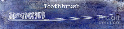 The Toothbrush Blue Poster