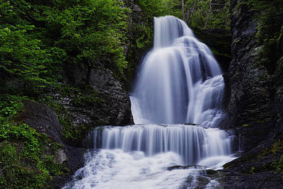 The Top Of Dingmans Falls Poster