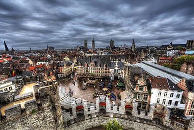 The Top Of Ghent Poster by Shawn Everhart