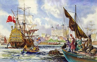 The Tower Of London In The Late 17th Century  Poster by English School