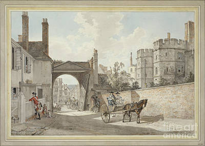 The Town Gate Looking Westwards Down Castle Hill Poster by MotionAge Designs