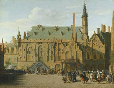 The Town Hall At Haarlem With The Entry Of Prince Maurits To Replace The Governers Poster by MotionAge Designs