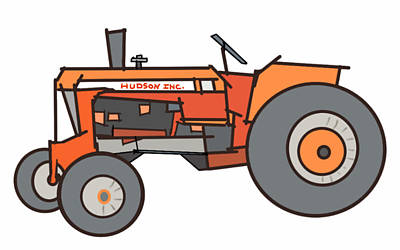 The Tractor Poster by Denny Casto