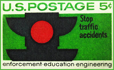 The Traffic Safety Stamp Poster by Lanjee Chee