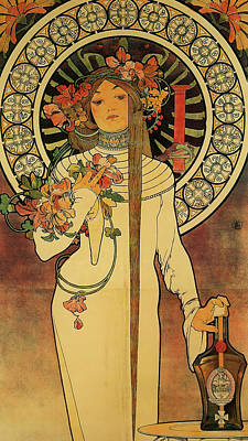 The Trappistine Poster by Alphonse Mucha