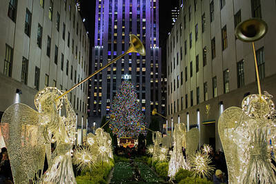 The Tree At Rockefeller Plaza Poster