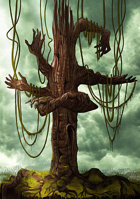 The Tree Of My Endless Selfish Requests - By Diana Van Poster