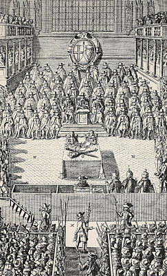The Trial Of Charles I Poster by English School