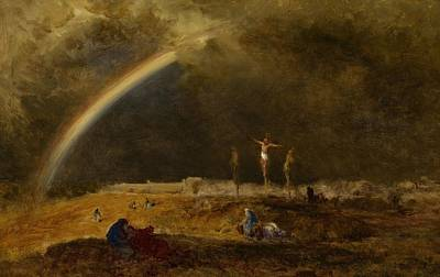 The Triumph At Calvary Poster by George Inness