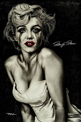 The True Marilyn Poster by Dan Menta