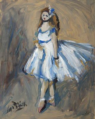 The Truth Lies Between Aguste Renoir And Marlene Dumas Poster by Nop Briex