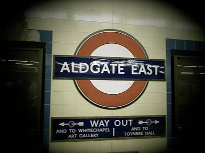 Poster featuring the photograph The Tube Aldgate East by Christin Brodie