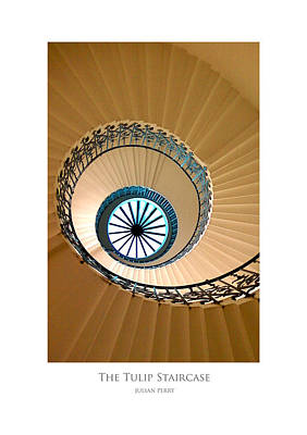 Poster featuring the digital art The Tulip Staircase by Julian Perry