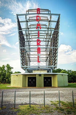 Poster featuring the photograph The Tulsa Admiral Twin Drive-in by Gregory Ballos