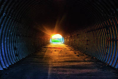 The Tunnel Of Light Poster by Martin Newman