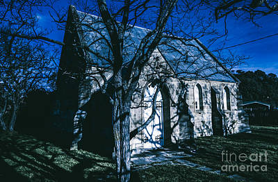 The Twilight Abbey Poster by Jorgo Photography - Wall Art Gallery