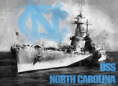The U S S North Carolina Poster