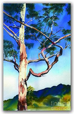 Poster featuring the painting The Um Gum by Sandra Phryce-Jones