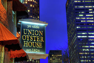 Poster featuring the photograph The Union Oyster House - Boston by Joann Vitali